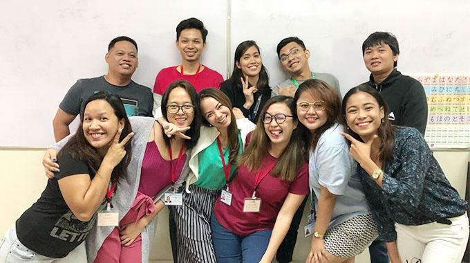 アジアケアユニオン フィリピン学生集合写真